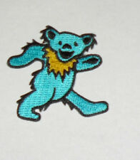 Grateful Dead Dancing Bear Embroidered iron on Patch BLUE 2""