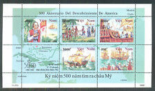 N.636 -Vietnam Block 500th of discovery of America (1492-1992) 1992