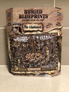 1000 Piece Puzzle The Gladiators Ancient Blueprints Historical Educational