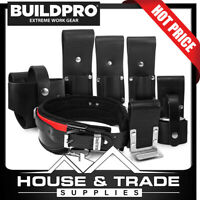 BuildPro Scaffolders Set 7 Piece Leather Heavy Duty Stitching SS