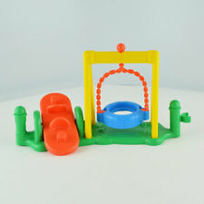 Fisher Price Little People Playground Tire Swing See Saw Teeter Totter Structure