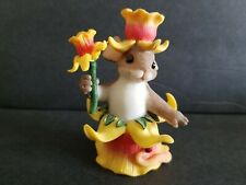 Charming Tails Rare Handcrafted Tulips Figure