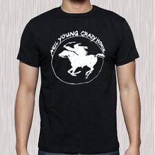 Neil Young Crazy Horse Tour Logo Men's Black T-Shirt Size S to 3XL