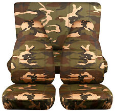 Jeep wrangler  YJ army camo #31 Front+Rear  car seat covers cotton material