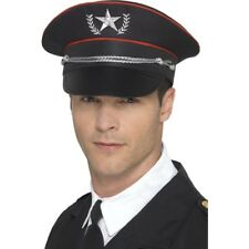 Men's Deluxe Military Officer Fancy Dress Hat Pilot General Captain Stag New