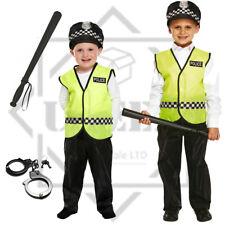 Policeman Officer Fancy Dress Boys Kids School Costume Constable Safe Neighbour