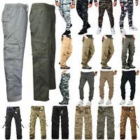 Men Camo Military Cargo Combat Pants Tactical Joggers Work Army Casual Trousers