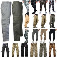 Men Camo Tactical Combat Cargo Pants Camo Army Military Work Trousers Bottoms
