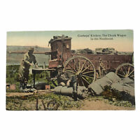 Vintage Postcard Cowboys Kitchen The Chuck Wagon In the Northwest