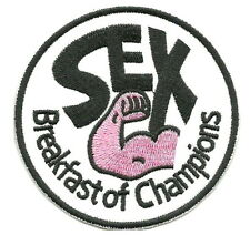 Breakfast of Champions Sex Muscle Punk Iron on Patch