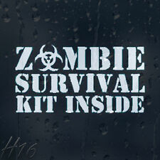 Zombie Survival Kit Inside Car Decal Vinyl Sticker For Window Panel Bumper