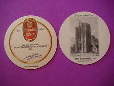 Beer COASTER REISSDORF Kolsch ~ Cologne, GERMANY ~ Dom Turmstumpf von Carl Rauch