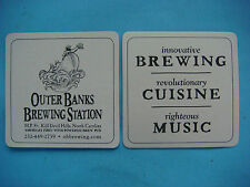Beer Bar Coaster: OUTER BANKS Brewing Station ~ Kill Devil Hills, NORTH CAROLINA