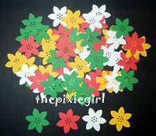 MARTHA STEWART POINSETTIA FLOWER PAPER PUNCHES 60 DIE CUTS PUNCHIES