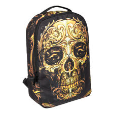 Blue Banana Orange Sugar Skull Backpack Alternative Style Black School Rucksack