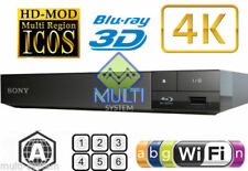 SONY BDP-S6500 REGION FREE BLU-RAY DVD PLAYER ZONE A 0-8 Wi-Fi 4K Upconversion