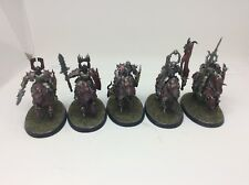 5 x Khorne Knights With Lances Painted Chaos Age Of Sigmar Warhammer