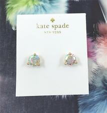 New Kate Spade Rise and Shine Faceted Crystal Round Gold tone Earrings