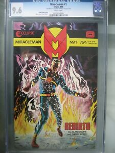Miracleman #1 Gold Edition CGC 9.6 Eclipse 1985 **Signed Alan Moore** COA /400