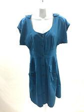 Maeve Anthropologie Size 4 Ladies Short Sleeve Dress Boho Chic Blue