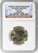 2014-D PRESIDENT WARREN HARDING $1 NGC MS68 - TOP POP