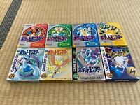GameBoy PocketMonster 8 Pokemon Games with BOX and Manual