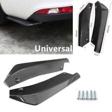 2PCS Carbon Fiber Look Car Truck Bumper Lip Diffuser Splitter Canard Protectors