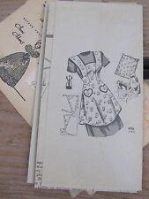 Vintage 1940's 50's Sewing Pattern * Full Bib APRON - Anne Adams - size small