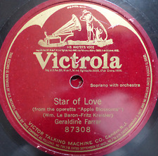 classical one sided 1910's 78 RPM - geraldine farrar- star of love - victorola