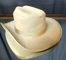 (Sz. 6 7/8) NEAR MINT! 1950's Stetson Royal De Luxe Cattleman Cowboy Hat Grey