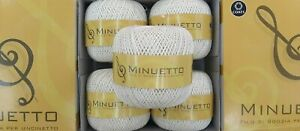 5 Gomitoli Minuetto 8 Cucirini Coats Cotone Filo Scozia Avorio Panna 100 Gr. 501
