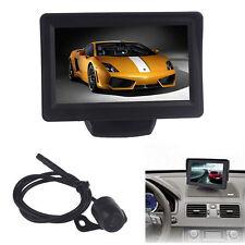 HQ 4.3 Inch Car TFT LCD Monitor Mirror Reverse Rear View Backup CMOS Camera Safe