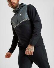 Under Armour Sportstyle 1/2 Zip Hooded Black Grey JacketUk 2XL #Box 2
