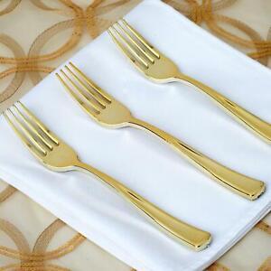 25 Count | Gold Plastic Forks