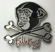 Billabong Jolly Roger Chimp Belt Buckle, Black Enamel & Silver-tone (RF802)