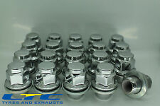 Set of  20* 12x 1.25 12x1.25mm 21mm Flat Seated Hex Alloy Wheel Nuts