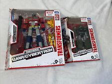 Transformers War for Cybertron Netflix Optimus Prime + Hound Bundle Lot Of 2