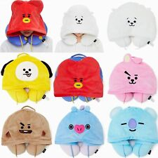 KPOP BT21 BLACKPINK hooded U-shaped pillow neck pillow TATA KOYA U-shaped pillow