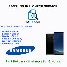 Samsung Info IMEI Check for Manufacturer Warranty Sold by Carrier Network Report