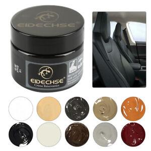 50ML Leather Repair Filler Cream Kit Restore Car Seat Sofa Scratch Scuffs Holes+