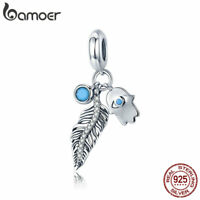 Bamoer S925 Sterling Silver Cz charm Bohemian Style Dangle For Women Bracelet
