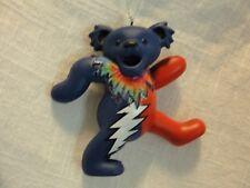 "GRATEFUL DEAD DANCING BEAR ORNAMENT 3"" RED AND BLUE BEAR"
