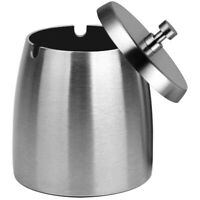 Outdoor Ashtray with Lid for Cigarettes,Stainless Steel Windproof/Rainproof U3A9