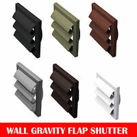 """Extractor Fan Ducting Wall Gravity Flap Grille Ventilation White 4"""", 5"""" & 6"""""""