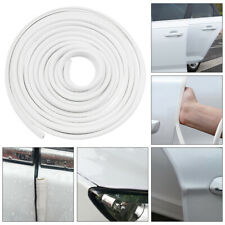 White 1x 5m/16.5ft Car Steel Anti Collision Side Door Trim Edge Bumper Universal