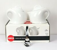 Copco Creamer Porcelain Set With Contoured Stainless Steel Spoon Brand New