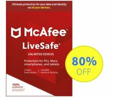 McAfee LiveSafe 2020 Antivirus - 3 Years Unlimited devices, Subscription