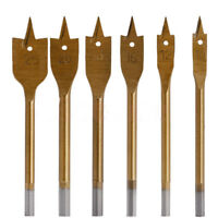 6pcs/Set Industrial Spade Paddle Flat Wood Boring Drill Bit Tools Accessories