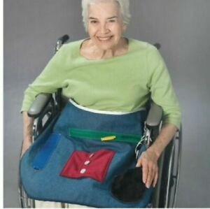 Posey One Size Apron Activity Skill Multicolored Fidgit Alzheimer Adult Zipper