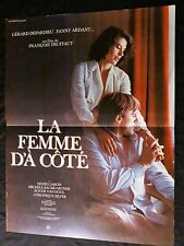 francois truffaut LA FEMME D'A COTE  fanny ardant g depardieu affiche cinema